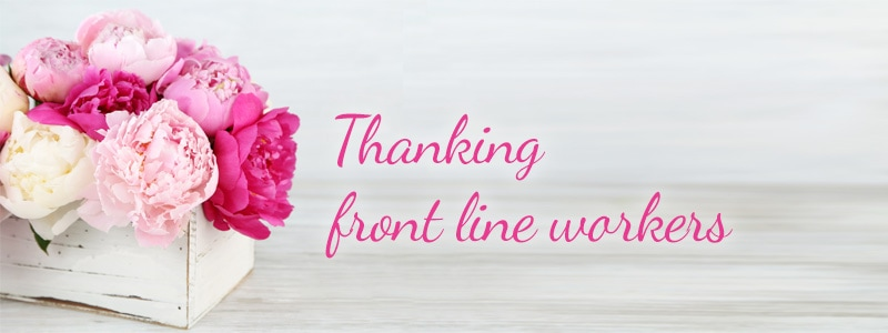 Thanking frontline workers